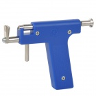 Professinal Ear Nose Navel Body Piercing Gun Tool - Blue + Silver