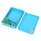 DIY 4 x18650 Mobile Power Bank Case Kit  w/ LED Light / Indicator / Dual USB - Blue