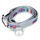 The National Flags Pattern Strap for Ego Electronic Cigarette - Silver