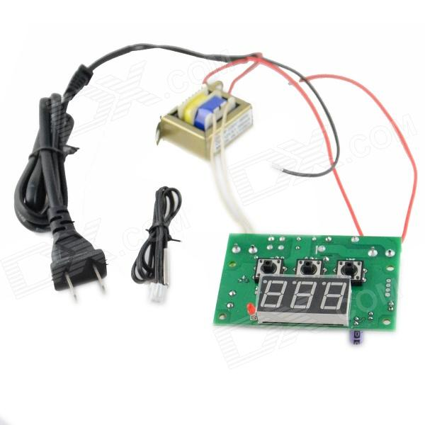 HZDZ 0.56 LED Red Digital Intelligent Temperature Controller - Green (Input 220V / Output Relays) hzdz microcomputer temperature control switch black 5v