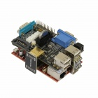 Raspberry Pi Expansion Board Made for Raspberry Pi + Raspberry Pi B Project Board - Black + Red
