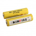 "KINFIRE KF1500 Rechargeable Li-ion 3.7V ""1500mAh"" 18650 Battery w/ PCB Protection - (2 PCS)"