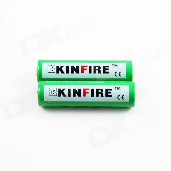 CE MSDS UN38.3 KINFIRE 3.7V recarregável Li -ion de 2600mAh 18650 High Power