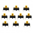 Jtron 4-Pin Tact Positioning Column DIP Switch - Black+ Yellow (10 PCS / 12 x 12 x 7.3mm)