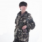 JUNGLE MAN H221 Outdoor Mens Fishing And Hunting Windproof Jackets - Bionic Camouflage (Size-XL)