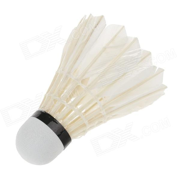 Gaoerbo Duck Feather Badminton Shuttlecocks - White (Size:9 / 12 PCS)