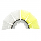 GAOERBO High-grade Nylon Badminton Shuttlecocks - White + Yellow (6 PCS)