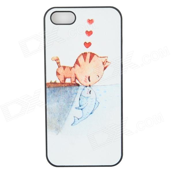 все цены на ENKAY Forbidden Love Pattern Protective Plastic Back Case for Iphone 5 / 5s - Multicolor онлайн