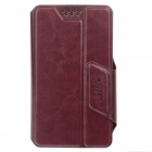 SHS Stylish Adjustable Protective PU Leather Case Cover Stand for Iphone 4S / 5 /5c - Brown (Size-S)