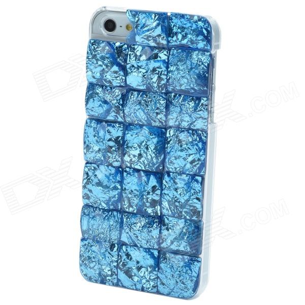 Stylish Crystal Stone Style Protective ABS Back Case for Iphone 5 - Blue