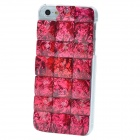 Stylish Crystal Stone Style Protective ABS Back Case for Iphone 5 - Purplish Red