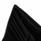 C.S.C AA506GI7 Stylish Men's Head Layer Cowhide Purse Wallet - Black