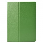 One Fold Style Silk Texture Protective PU Leather + TPU Case Cover Stand for Ipad AIR - Green + Blue