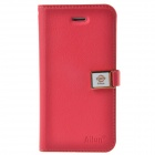 HELLO DEERE Ailun series PU Leather Case Cover w/ Card Slot / Strap for Iphone 5 / 5s - Red
