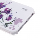 iPai HT3018 Dream Rose Ultrathin Protective PC Back Case for Iphone 5 - White + Purple