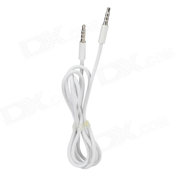 3.5mm Plug Male to Male Car Audio Cable - White (100cm)