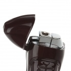 Lovely Leather Shoe Shape Refillable Lighter - Brown