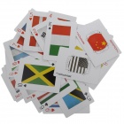 National Flag Pattern Large Poker Cards - Multicolored