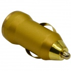5058A Mini Car Cigarette Lighter Charger - Golden (12~24V)