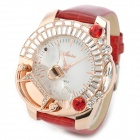 Aixin 6416 Fashion Women's Analog Wrist Watch - Golden + Red