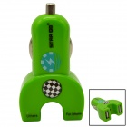 STAR GO ST-10 Dual USB Car Cigarette Lighter Adapter Charger for iPhone + More - Green (12~24V)