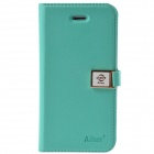 HELLO DEERE Ailun series PU Leather Case Cover w/ Card Slot / Strap for Iphone 4 / 4s - Green