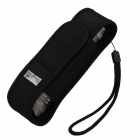 Nylon Cloth Stretch Flashlight Holster Flashlight Pouch for LED Torch - Black