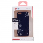 iPai HT3018 Gem Flower Ultrathin Protective PC Case for Iphone 5 - Black + Silver