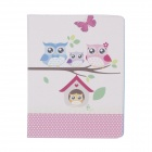 Stylish Owl Pattern PU Leather Case Cover Stand w/ Auto Sleep for Ipad 2 / 3 / 4 - Multicolored