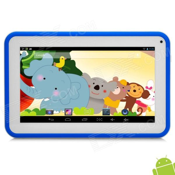 """P706 7"""" Android 4.2 Tablet PC w/ 512MB RAM / 4GB ROM for Kids - Blue + White"""