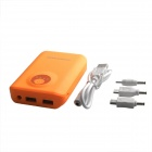 8800mAh Outdoor Dual-USB Power Source Bank for Samsung / Phone / LED Light Indicator - Orange