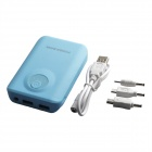 8800mAh Outdoor Dual-USB Power Source Bank for Samsung / Phone / LED Light Indicator - Blue