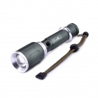 UltraFire KX-006 LED 3-Mode 600LM Rotational Zooming White Flashlight w/ Strap - Army Green