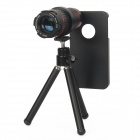 4X~12X Detachable Telephoto Lens Set for Iphone 4 / 4s - Black