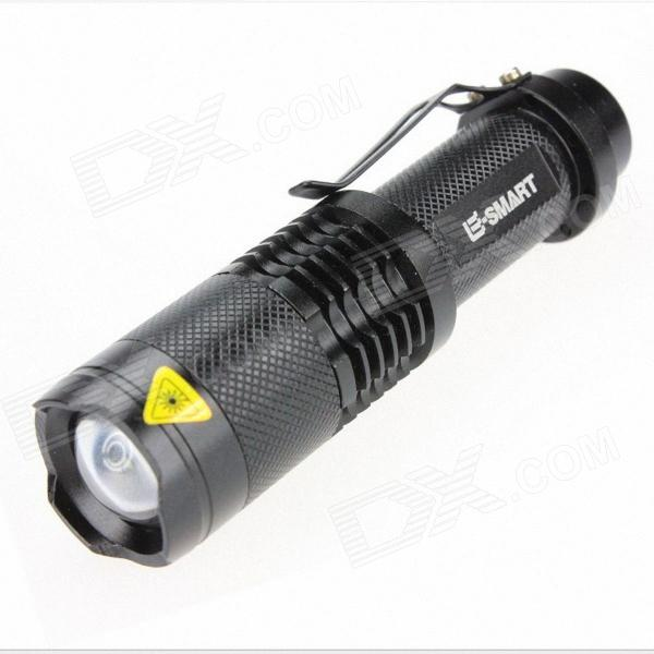 e-smart zoom LED 900LM 3-Mode frio lanterna de luz branca - preto