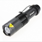Zoom LED 900lm 3-Mode Cold White Light Flashlight - Black(1 x 18650)