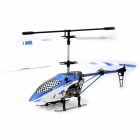 YD-815 Rechargeable 3.5-CH R/C Gyro Helicopter Toy w/ Wireless Controller - White + Light Blue