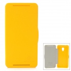 NILLKIN Protective PC + PU Leather Case for HTC Desire 700 / 7088 - Yellow