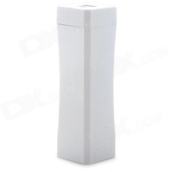 Cylindrical Shape Plastic 4800mAh External Battery Charger for Cell Phone - White