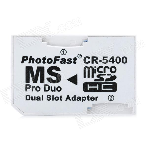 Dual MicroSD/TF to MS Pro Duo Adapter (16GB Max)