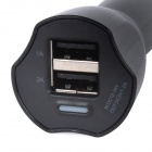 JOWAY JC09 Dual USB Car Cigarette Powered Charger - Black (12~24V)