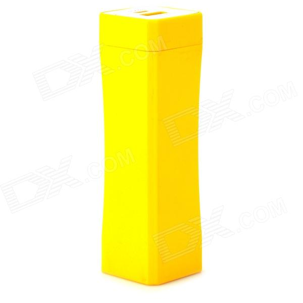 4800mAh Mobile Power Bank for IPHONE, IPAD, IPOD + More - Yellow 5200mah mini rechargeable mobile power bank for cellphone tablet pc more yellow white