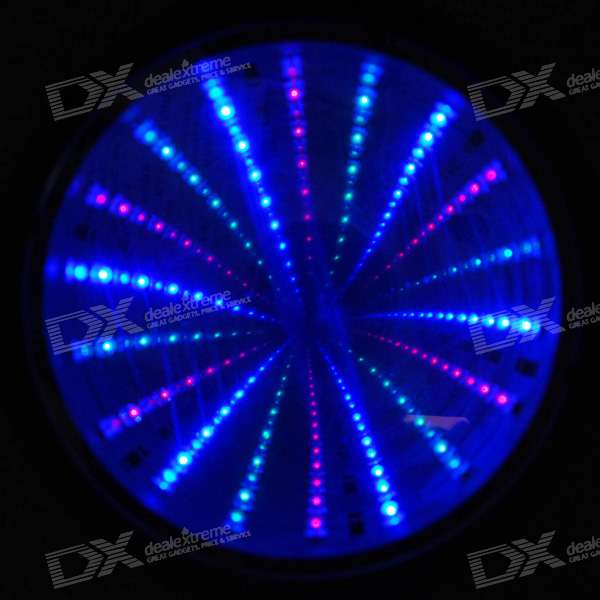 Stylish Desktop Flashing RGB LED Mirror (3*AA)