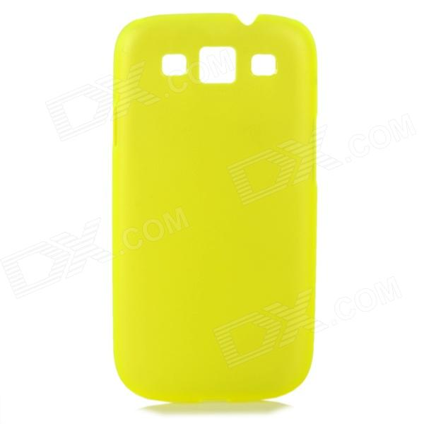 Ultrathin Protective Frosted Plastic Back Case for Samsung i9300 - Translucent Yellow