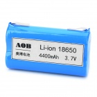 AOB Rechargeable 2 x 18650 3.7V 4400mAh Battery Pack - Blue