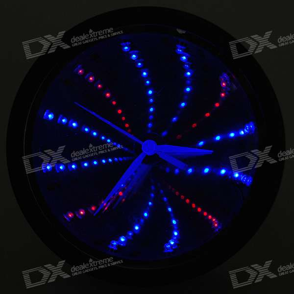 Stylish Desktop Mirror Flashing LED Clock (1*AA)