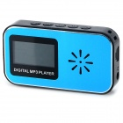 "Rechargeable Digital 1.1"" Screen MP3 Player w/ TF - Blue + Black"