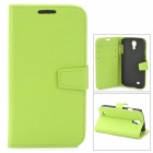 Protective PU Leather Case for Samsung Galaxy S4 i9500 - Green