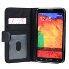 Protective PU Flip-Open Case + Stylus Pen Set for Samsung Galaxy Note 3 / N9000 / N9002 / N9005