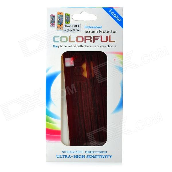 Protective Wood Grain Style Full Body Sticker Set for IPHONE 5 / 5S - Dark Red процессор other e5450cpu co 771 3 0g l5420 e5440